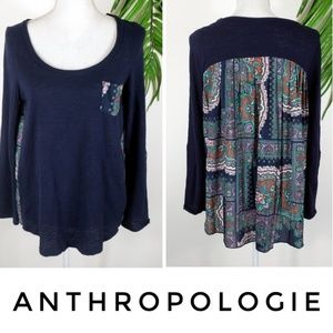Anthropologie Paper Locket Top Pleated Back Small